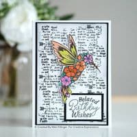 Creative Expressions Designer Boutique Collection A6 Clear Stamp - Follow Your Dreams